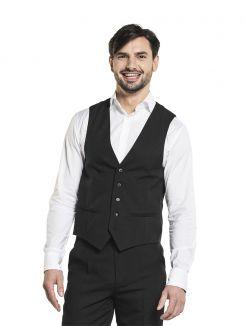 Waistcoat Men Black