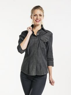 Shirt Women Antra Denim Stretch 3/4 Sleeve