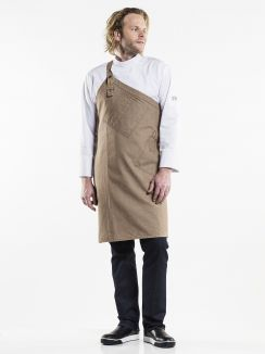 Bib Apron Skew Mud Denim W85 - L85