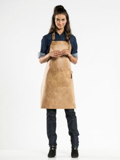 Bib Apron Regular Irish Cream W65 - L80