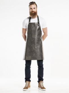 Bib Apron Regular Moonshine Black W65 - L80
