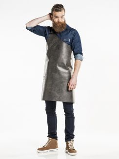 Bib Apron Butcher Moonshine Black W90 - L80