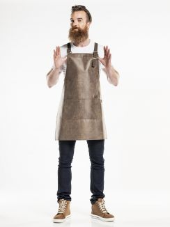 Bib Apron Fusion Barrel Brown W70 - L80