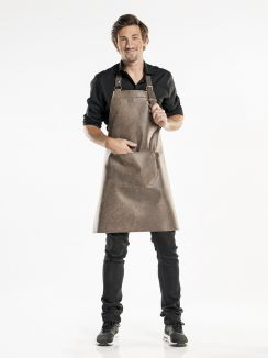 Bib Apron Regular Barrel Brown W65 - L80