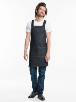 Bib Apron Fusion Black Denim W70 - L80