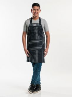Bib Apron Teen Big Stripe W75 - L75