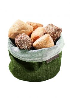 Accessories Bread Basket Green Denim