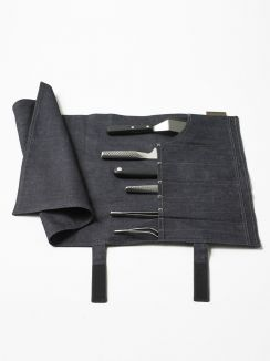 Accessories Knife Roll Blue Denim