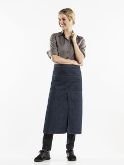 Apron 4-Pockets Blue Denim W90 - L80
