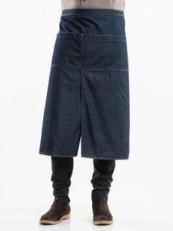 Apron 4-Pockets Blue Denim W90 - L80