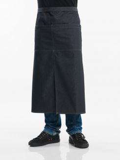 Apron 4-Pockets Black Denim W90 - L80