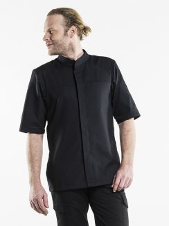 Chef Jacket Salerno SFX Black Short Sleeve