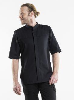 Chef Jacket Salerno SFX Black Short Sleeve