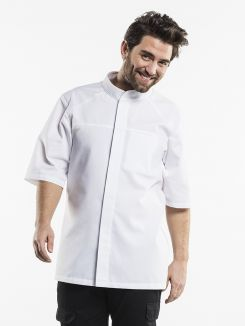 Chef Jacket Salerno SFX White Short Sleeve