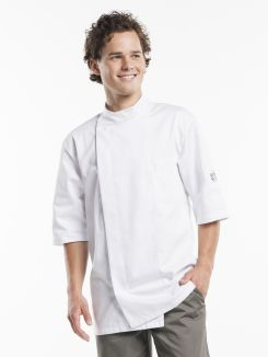 Chef Jacket Bacio White Short Sleeve