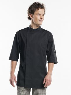 Chef Jacket Nova Black Short Sleeve