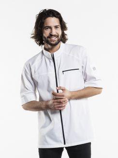 Chef Jacket Modena UFX White Short Sleeve