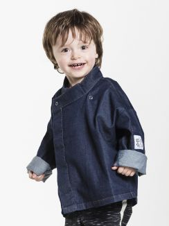 Chef Jacket Kids Blue Denim Stretch 92-98 1-2 yr