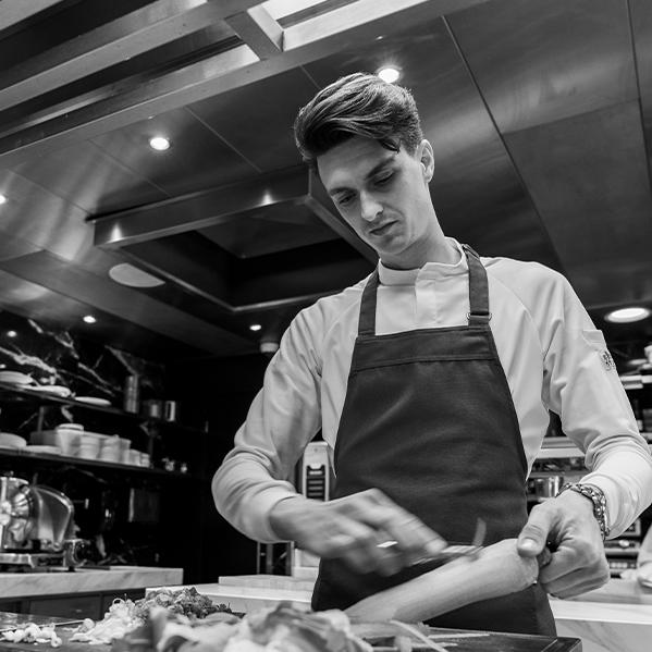 Ian kousemaker Fratello Chef Jacket Chaud Devant